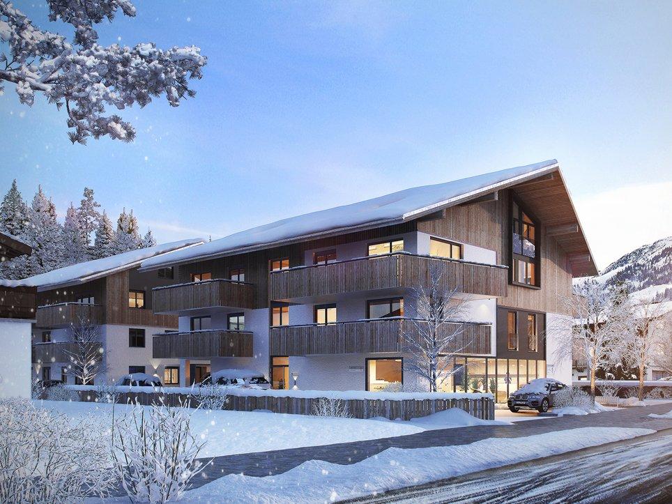 Ansicht Kirchberg Winter