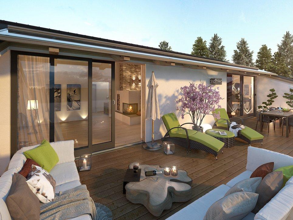 Terrasse Kirchberg Penthouse